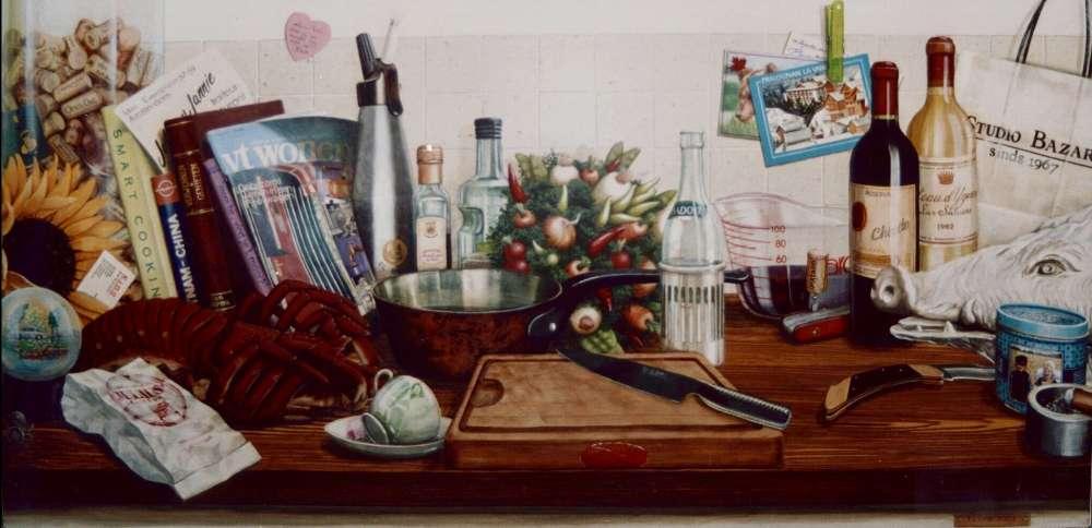 Keuken trompe l'oeil