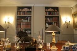 Trompe l'oeil boekenkasten op deuren