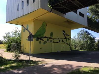 Bedieningshuis Nieuwe Hemweg NA beschilderen