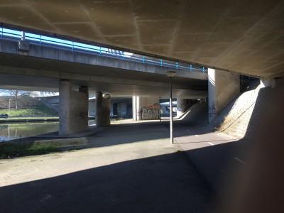 onderdoorgang A10 en Gooiseweg VOOR beschildering