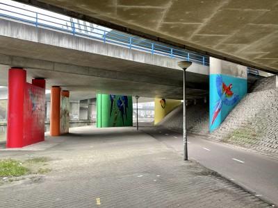onderdoorgang A10 en Gooiseweg NA